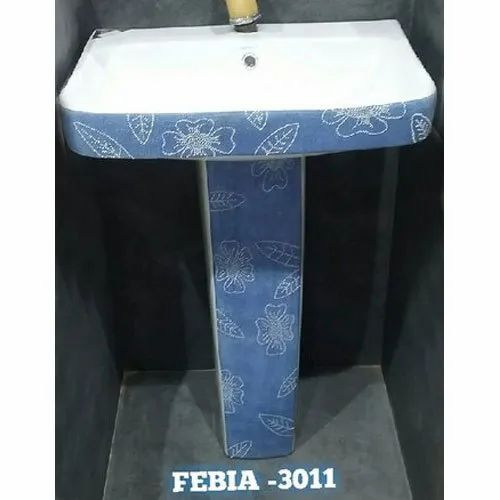Ceramic Printed Pedestal Wash Basin, Model Number/Name: 3011