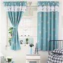 Knitting Cloth Printed Window Curtain, Size: 4x5 Feet