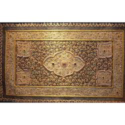 Hand Embroidered Kashmiri Jewel Carpet, Size: 3 x 6 feet