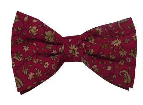afcfe95bb369 Dark Pink Floral Design Silk Double Bow Tie at Rs 735 /piece | Silk ...
