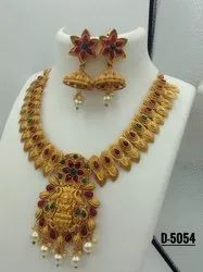Matte Finish Hasli Jewellery Set - D 5054