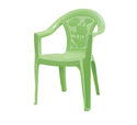 Plastic Medium Back Chair with Arms