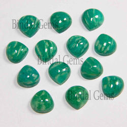 Bindal Gems Natural Amazonite 9 MM Heart Shape Gemstone Cabochon