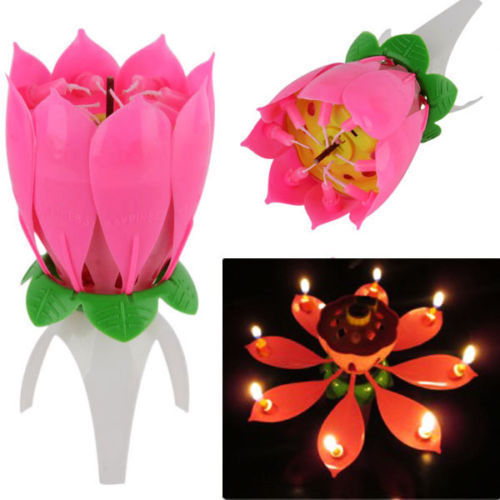 Multicolor Flower Birthday Candle