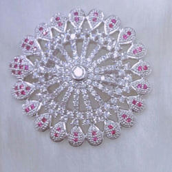 Cubic Zirconia Diamond Saree Pin
