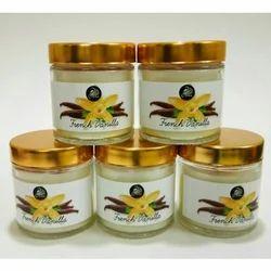 French Vanilla Fragrance Glass Jar Candle