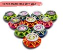 Malticolor 12 Pc Set Of Matki Diwali Clay Diya