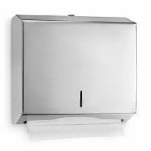 Stainless Steel Silver Paper Towel Dispenser