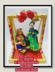Radha Krishna Hand Made Golu Doll