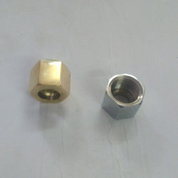 Golden Etching Brass Nut, For Industrial