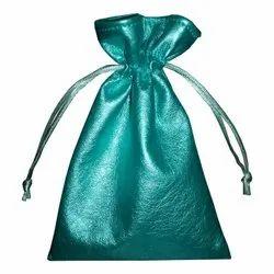 Plain Leather Fabric Bags, Capacity: 50 Gram, Size/Dimension: 16 X 10 Cm ( H X W )