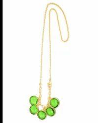 Peridot Quartz Gemstone Necklace