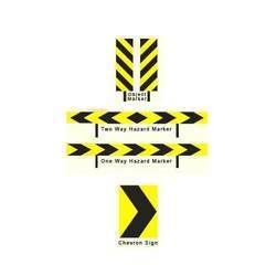 One Way Hazard Markers