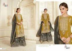 Shree Fabs Shehnai Vol 22 Georgette Embroidery Sharara Style Salwar Kameez