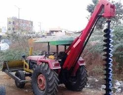 Tractor Mounted Drozer cum Pit digger
