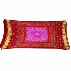 Pink And Red Shaded Color Chandrakhani Design Gaji Silk Bandhani Dupatta