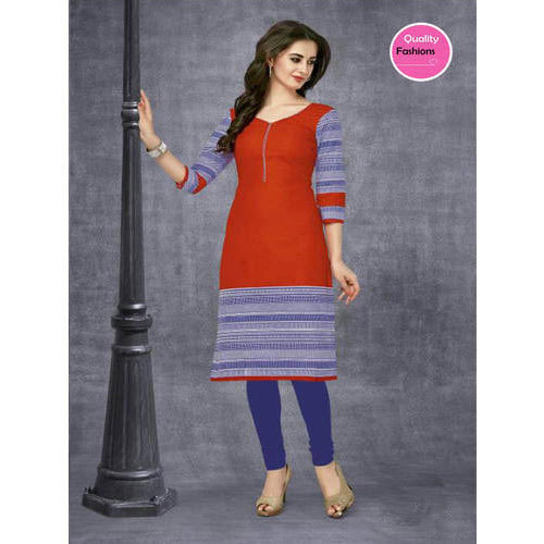 L And XL Stitched And Unstitched Ladies Cotton Kurti