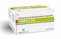Rabeprazole Domperidone Rabewell-D Rabeprazole & Domperidone Capsules, 10X 10 And 25X10 , For Antacid