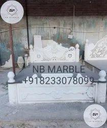N.B. Marble White Marble Bed