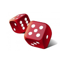 Red and White Ludo Dice