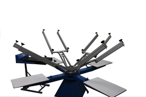 T Shirt Screen Printing Machine - Manual 4 Color 4 Station T