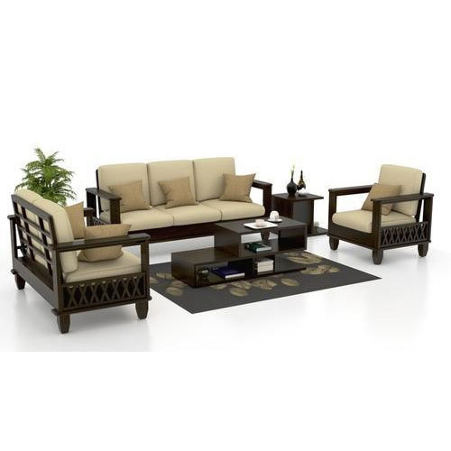 brown wooden sofa set rs 43000 piece walnut furnishing gallery rh indiamart com