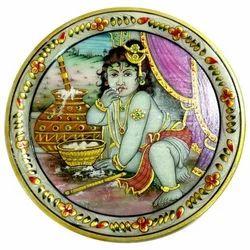 Marble Krishna Plate