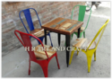 Metal And Wood Restaurant Furniture