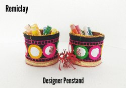 Remiclay Designer Pen Stand, Size/Dimension: 8 cm
