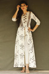 Printed Long Front Open Kurti