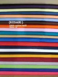 KESARI 100% cotton twill shirting fabric