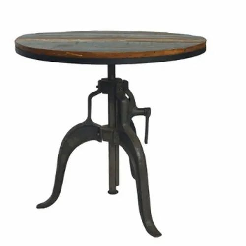 Iron Round Wooden Bar Table Rs 21000, Round Wood Bar Table