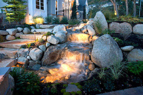 Marvelous Artificial Outdoor Waterfall