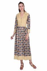 Rayon Printed Maxi Dress
