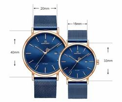 Round NF3008 Naviforce Luxury Analog Couple Watch, For Daily