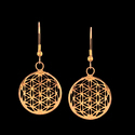 Brass Dangle Tribal Festival Gift for Her Geometric Earring