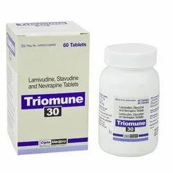 Lamivudine Stavudine And Nevirapine Tablet