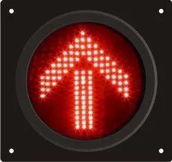 Red Arrow Traffic Light