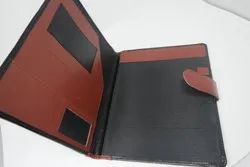Leather Brown Conference Folder, for Office
