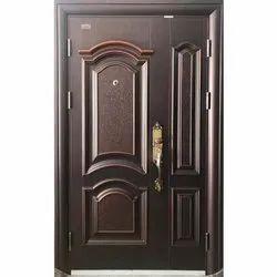 Mild Steel Hinged Safety Single Door, Size: 2050 X 960 Mm