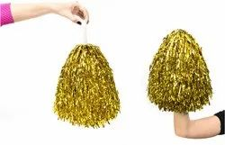 Golden Pom Pom For Cheer Leading