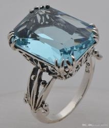 925 Sterling Silver Aquamarine Ring