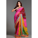 Indigo Casual Wear Multicolor Chiffon Ladies Saree, With Blouse Piece