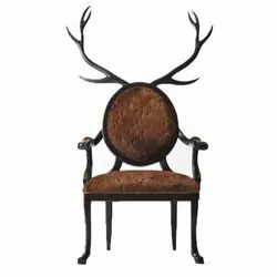 Leather Crown Chair, Brown