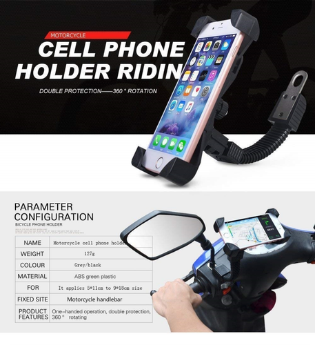 Black Standard Bike Mobile Holder