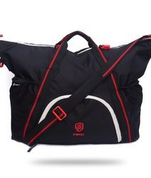Black and Red Duffel Gym Bag