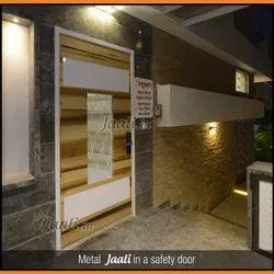 White Front Metal Door Jali
