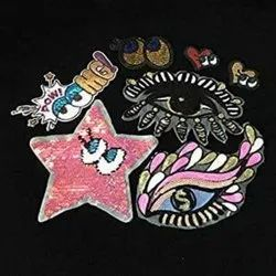 SEQUINS EMBROIDERY PATCH
