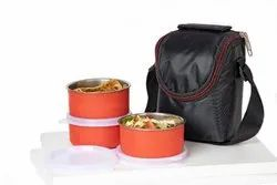 Steel Lunch Box Stainless Steel 3 Container Lunch Box Leakproof Containers Tiffin Set with Bag