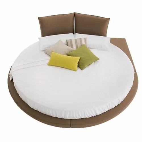 Leatherette Round Platform Bed